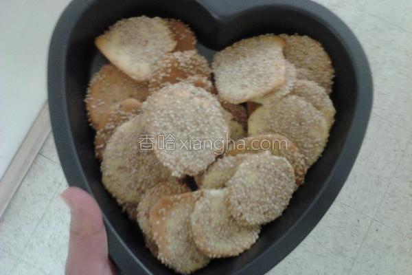 芝麻饼干的做法