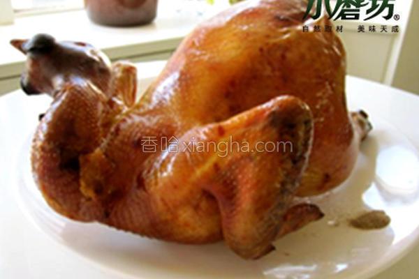 小磨坊葱香烤全鸡的做法