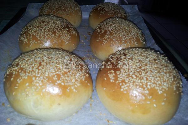 汉堡堡面包的做法
