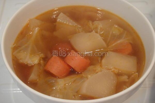 素食川味牛肉汤的做法