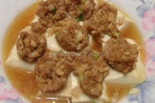 豆腐酿镶肉的做法