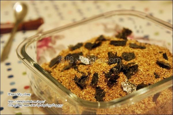 海苔豆渣素甘松的做法