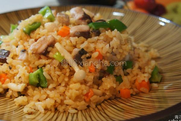 鲭鱼炒饭的做法