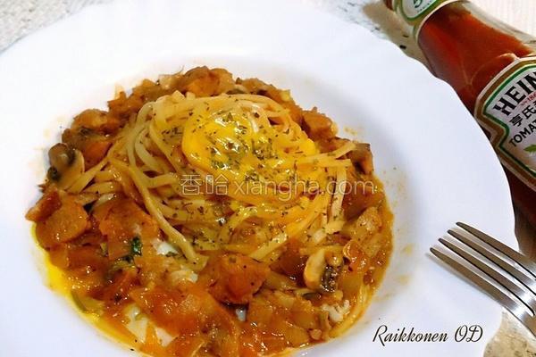 茄香蘑菇猪肉面的做法