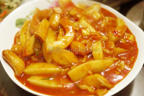 道地韩式辣炒年糕的做法