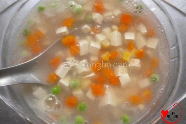 蔬四季豆腐素羹的做法