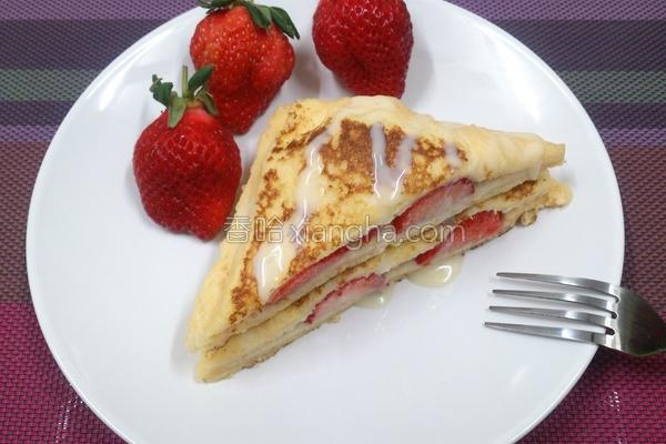 法式草莓三明治的做法