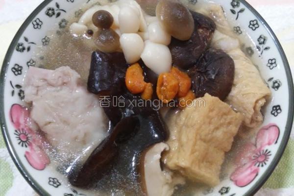 芋头菇菇当归汤的做法