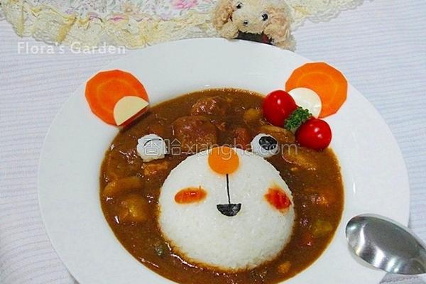 小熊咖哩餐的做法