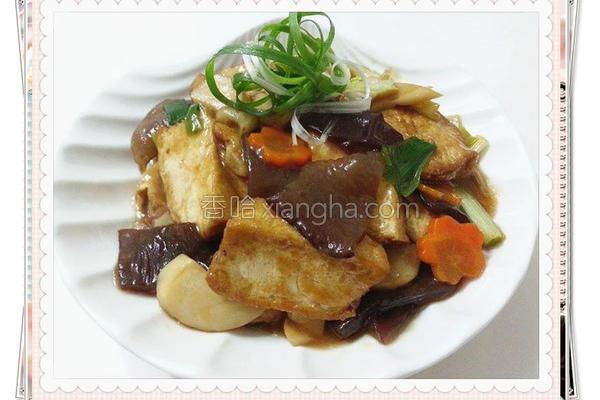 蚝油烩豆腐的做法