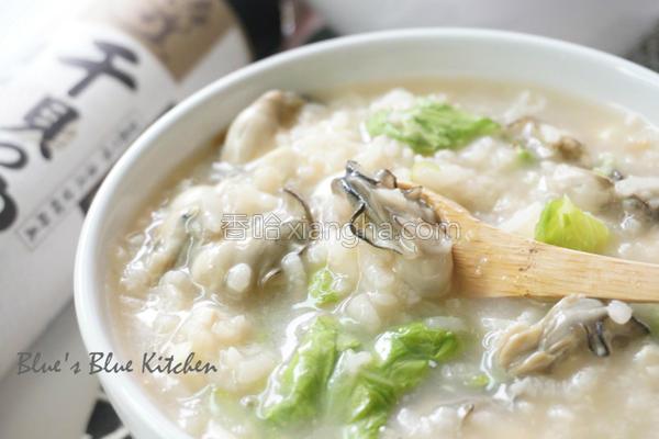 鲜蚵豆腐生滚粥的做法