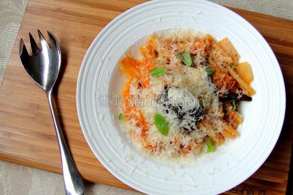 韩式泡菜意大利面的做法