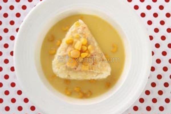 奶油玉米浓汤炖饭的做法