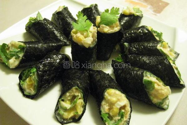 鲔鱼沙柆春卷寿司的做法
