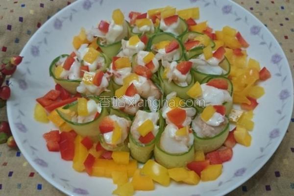 小黄瓜虾沙拉的做法