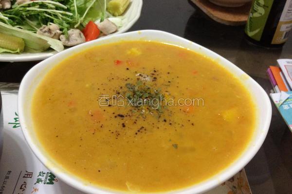 虾仁营养南瓜汤的做法