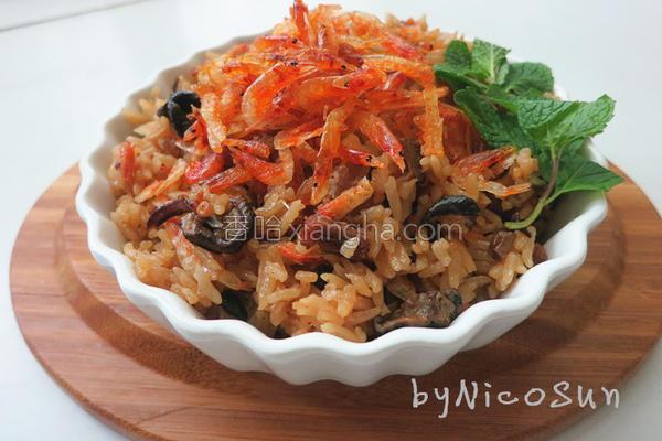 低卡樱花虾油饭的做法