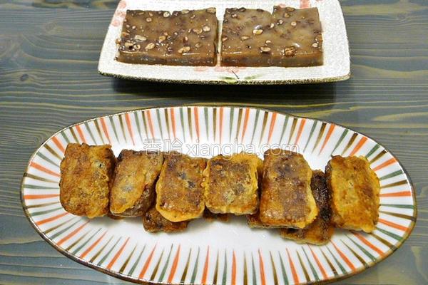 黑糖红豆年糕的做法