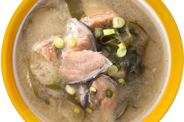 鲑鱼味噌汤_全联的做法