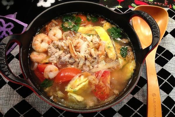 番茄蟹肉蛋汤的做法