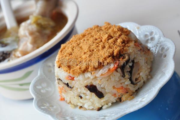 香菇樱花虾米糕的做法