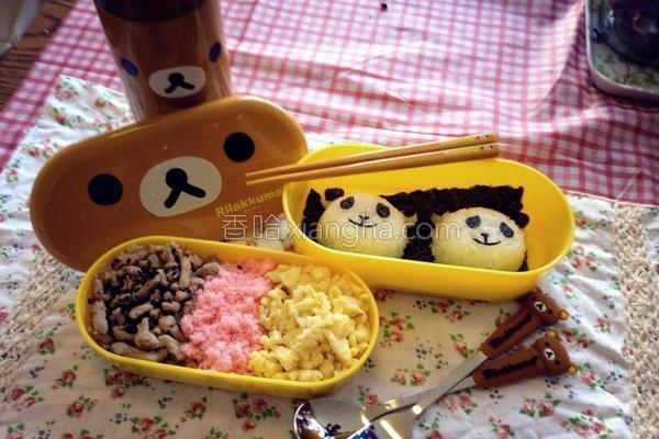 熊猫饭团的做法
