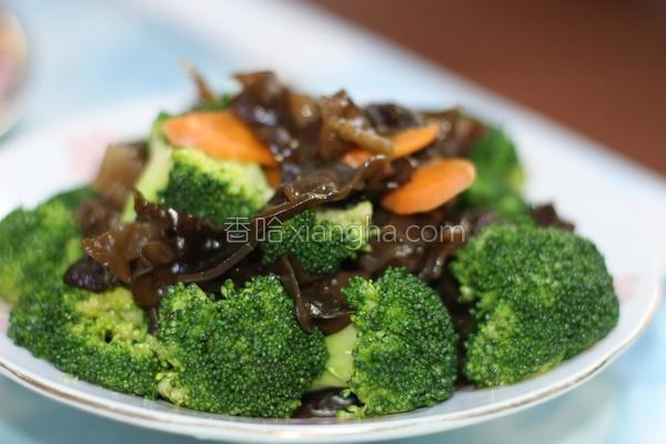素蚝油香炒花椰菜的做法