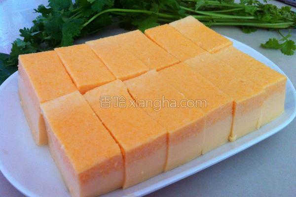 红萝卜鸡蛋豆腐的做法