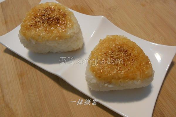 烤鲔鱼饭团的做法