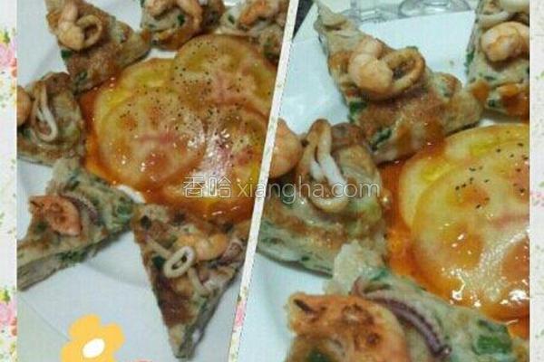 厚片海鲜总汇煎饼的做法
