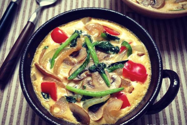 蔬菜蘑菇烘蛋的做法