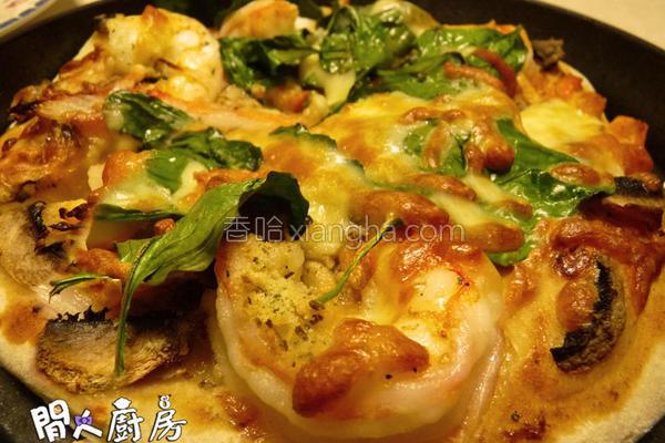 大虾蟹柳薄饼的做法