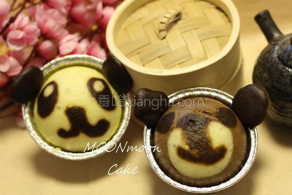 熊猫/小熊蒸蛋糕的做法