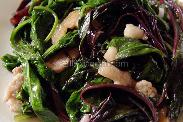 肉丝蒜炒青葙菜的做法