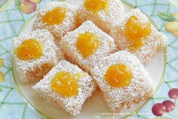 柳橙藕粉凉糕的做法