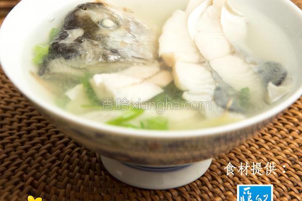 味噌花鲳鱼汤的做法