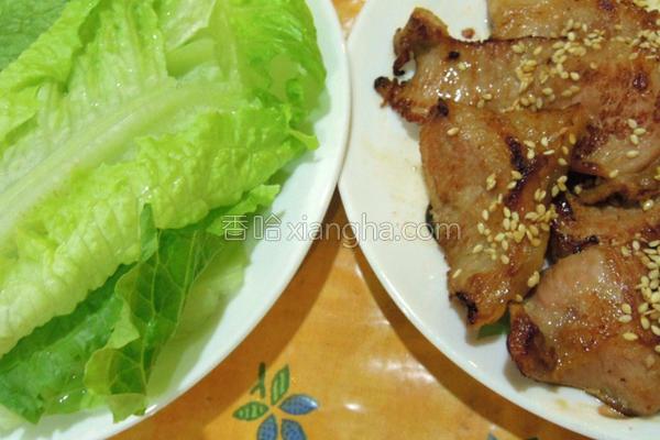 香煎松坂猪肉的做法