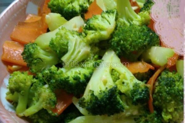 清炒花椰菜的做法