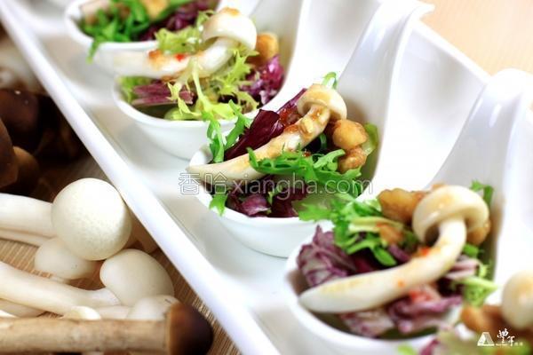 香柠生菜什菇的做法