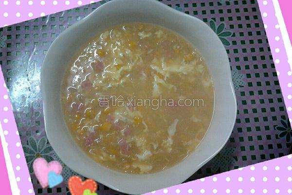 火腿玉米浓汤的做法