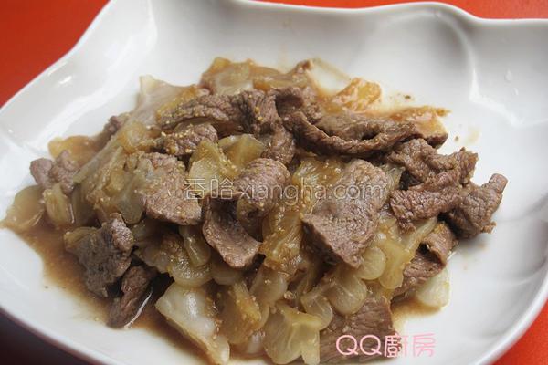 香蒜牛肉片炒苦瓜的做法