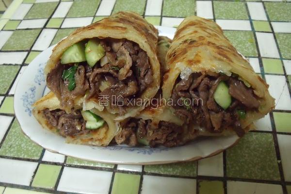沙茶牛肉卷饼的做法