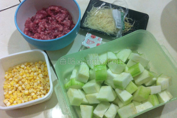 丝瓜绞肉粥的做法