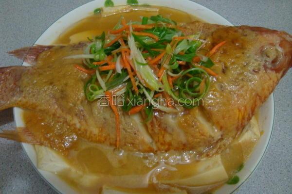 清蒸味噌豆腐鱼的做法