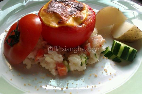 番茄镶炖饭的做法