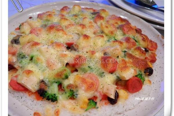 米披萨的做法