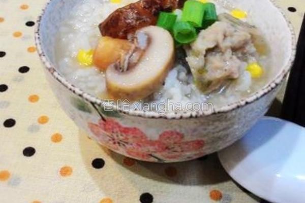 菇菇稀饭的做法