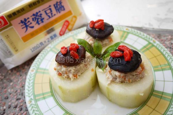 黄瓜镶豆腐肉的做法