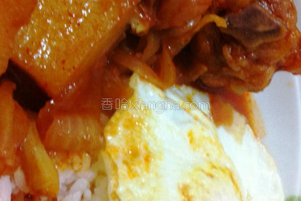 超韩式辣鸡饭的做法