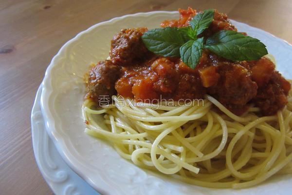 意大利肉丸面的做法